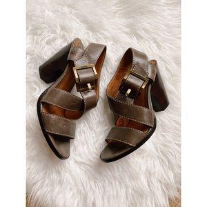 FRYE • Amy Criss Cross Heel / Sandal - Like New